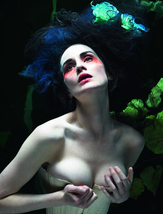 suicideblonde:  Michelle Dockery photographed by Mert and Marcus for Love #8 Long neck, pale breasts, jawline, corset, this picture is hitting a lot of things on my yes!pls list