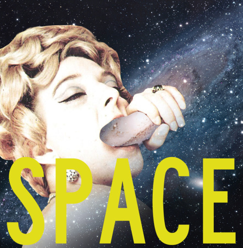aliceinbarcelona:  SPACE INVADERS. #2   Marilyn Monroe is sucking space cocks in heaven now.
