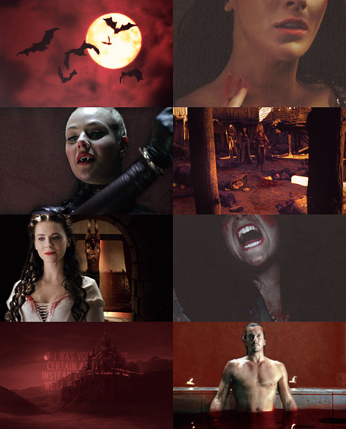 """If i was your vampire…""  AU meme →  Legend of the Seeker as a horror movie about vampires → asked by aelin"
