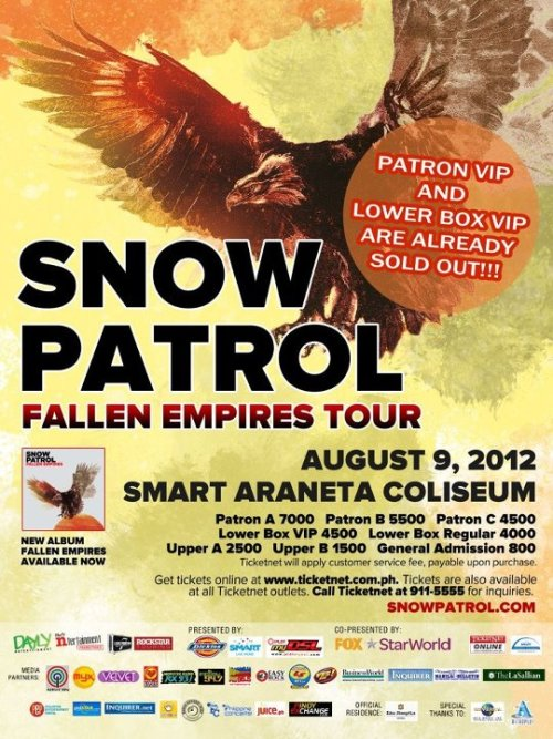 Snow Patrol live in Manila!