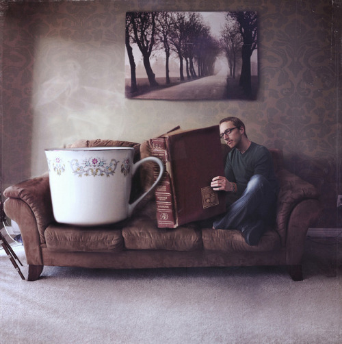 gabrielle-gantz:  My life Joel Robison's Whimsical Photographic Abstractions of the Joy of Reading [via Brain Pickings]  I need all of these things in my life.