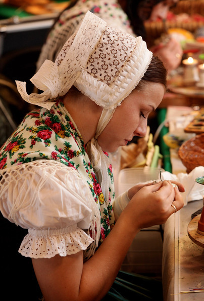 folkthings:  Girl wearing a Sorbian folk costume of Hornja Łužica, Germany