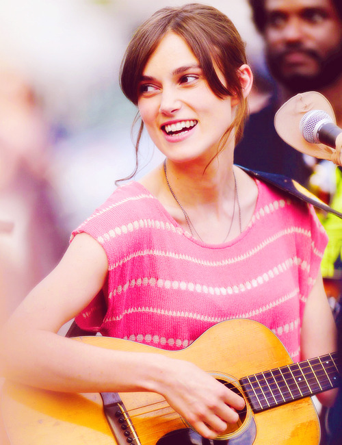 "Keira Knightley | on the set of ""Can a Song Save Your Life?"" (2012)"