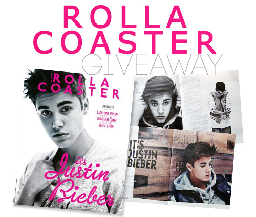 ukbiebersource:  UKBieberSource.com are giving away 2 copies of Rollacoaster Magazine Summer Issue featuring Justin Bieber. Some of you are struggling to find it so we have picked up an extra two issues to do a very quick competition. The competition is WORLDWIDE so gives some of those non UK Beliebers a chance to get hold of a copy!All you need to do is simply REBLOG this post and tweet the following:The new UK Bieber site http://ukbiebersource.com (@ukbiebersource) are giving away 2 copies of Rollacoaster Magazine!  http://ukbiebersource.com/post/28122081212/rollacoastercontest Every reblog and tweet will be added to the entries! Competition closes on the 31st of July which is in 4 DAYS! Good LuckP.S Competition is only open to beliebers with tumblr & twitter accounts.Retweets don't count, you must tweet it yourself.