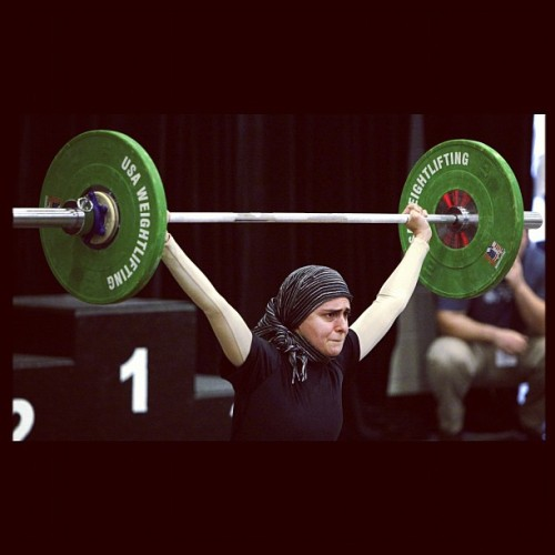 sawlisaloni:  Say hello to Kulsoom Abdullah, Pakistani-American #Weightlifter currently competing in the #Olympics2012 #weightlifting (Taken with Instagram) Badass Muslimah right there :)