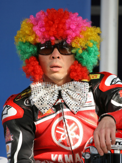 forget Bozo …Haga the clown is in town Noriyuki 'nitro nori' Haga, Santander Yamaha Europe YZR R1, 2007 World Superbike Championship