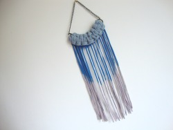 Macrame fringe ombre necklace. Via etsy.