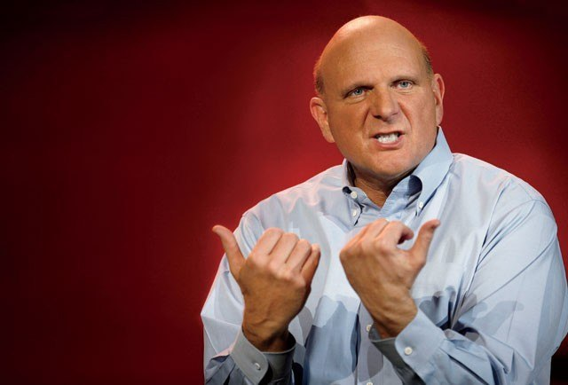 How Microsoft Lost its Mojo: Steve Ballmer and Corporate America's Most Spectacular Decline Firstly: what a photo! Secondly: what an article. It may be obvious to you and I that Microsoft both sucks and is boring but this really spells it out. I see no way of refuting any of this.