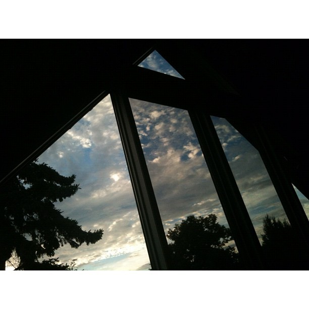 Morning triangle sky view. (Taken with Instagram)