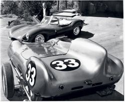 goodoldvalves:  Steve McQueen, and two beautiful possessions of his: the Jaguar XKSS and the Lotus Eleven.