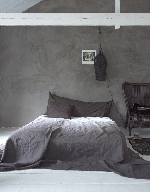 justthedesign: Grey Bedroom / Rendered Walls