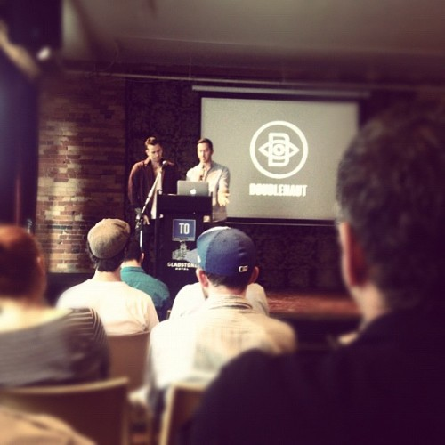 This is @Doublenaut #CreativeMornings /cc @Toronto_CM (Taken with Instagram at Gladstone Hotel)