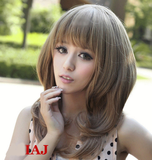 Luxurious Medium Blonde Natral Straight Kanekalon Wig Hairpiece Skin Top Design  shop from Merpher.L