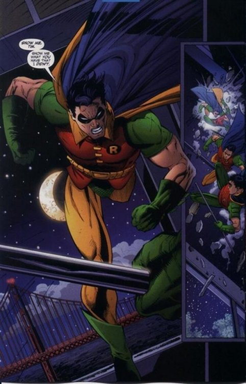 Jason Todd goes after Tim Drake to try and prove who the better Robin was.