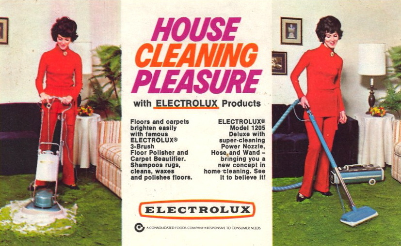 HOUSE CLEANING PLEASURE She's wearing her rug cleaning uniform.