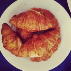 croissant breakfast in our new library. (Taken with Instagram)