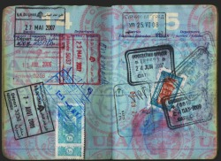 Marie Colvin's passport at Vanity Fair.