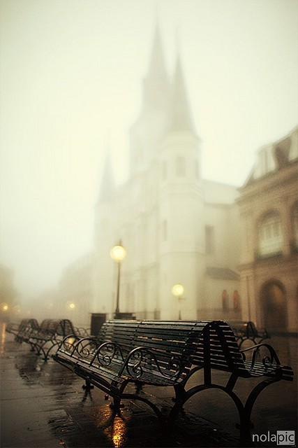 Foggy French Quarter, New Orleans, Louisiana photo by pompob