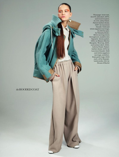 David Vasiljevic Captures Nadine Ponce in Fall Staples for Elle UK August 2012