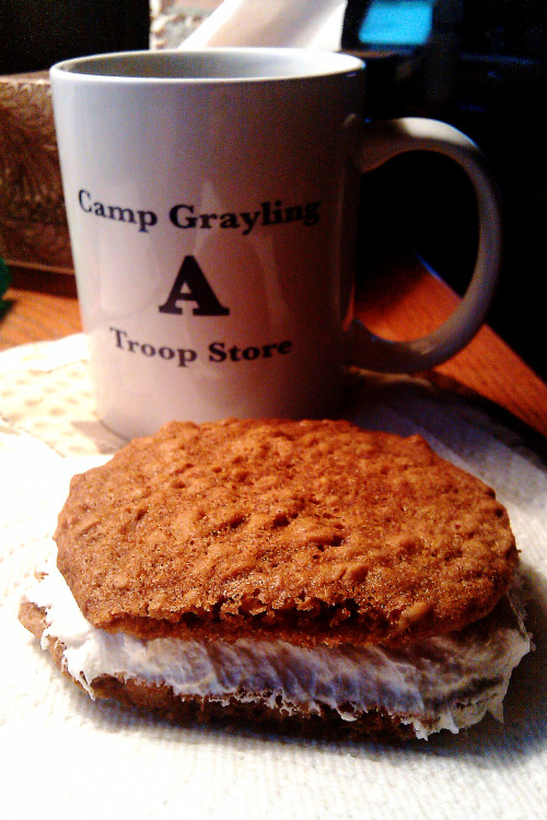 July 26, 2012 Oatmeal Creme Pies I'd totally use a rounded teaspoon as opposed to tablespoon when making the cookies. These are like the Big Size Little Debbie Oatmeal Creme Pies. ZOMG. I need to make Fudge Rounds now.