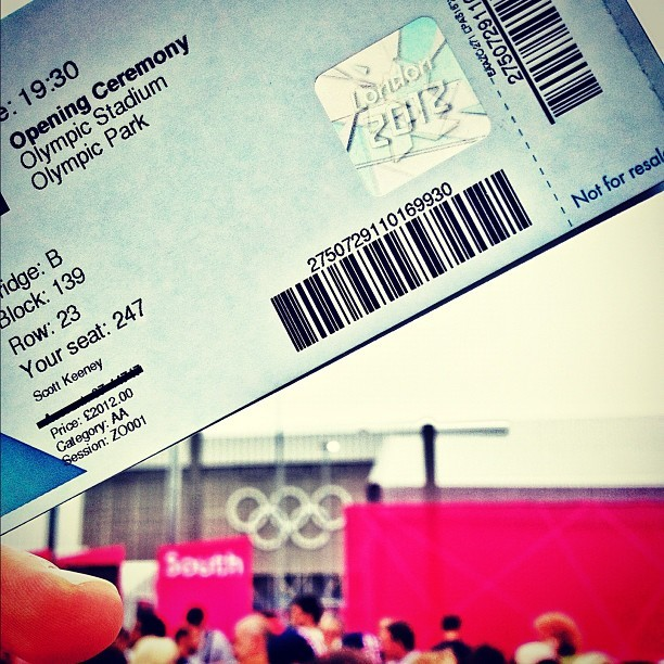 #London2012 we out here… & in the best seats! Category AA sitting next to the dignitaries 🇺🇸🇬🇧 (Taken with Instagram at London 2012 Olympic Park)