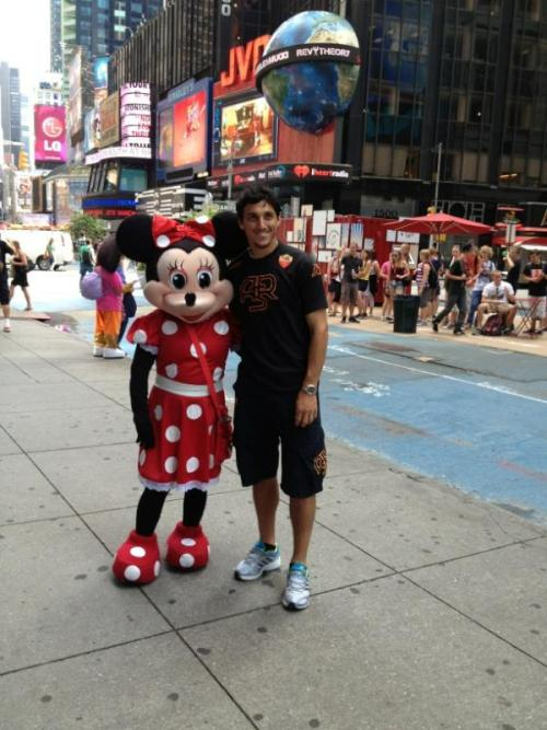 Nico Burdisso and Minnie. (usa tour)