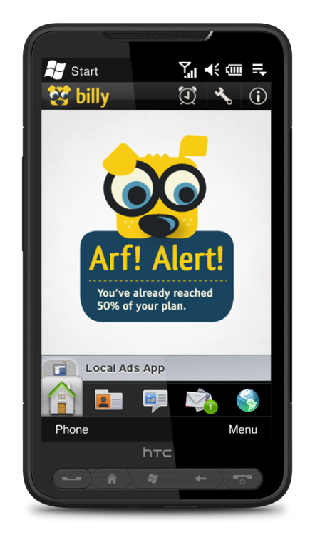 The android app I designed is now available for download! Billy was one of the last projects I worked on as a part of Lowe Philippines and well, a personal favourite.   Billy barks so your phone bills don't bite. Download Billy for free and start tracking your mobile usage. Billy uses your phone's own logs for SMS, talk minutes, and data. It then computes costs according to preset rates, which you can customize. You can also tell Billy when you want to be reminded. For now, this version of Billy is for prepaid users in the Philippines (Globe, Smart, Sun).  Click here to download the postpaid version / Click here to download the prepaid version