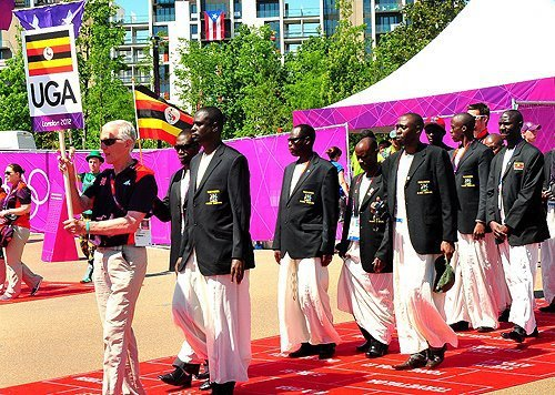 atouteslessauces:  The Uganda Olympics 2012 Team  During the opening ceremony, the team captain Ganzi Mugalu will carry the flag, and will be joined by swimmer Jamila Lunkuse, weightlifter Ssekyaaya, badminton player Edwin Ekiring and 800m runner Julius Mutekanga. The five are the ones that have made it to London so far, with the others still camped in Kapchorwa, Iten in Kenya and in Kampala.