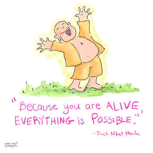 Buddha Doodle - 'Everything is Possible'