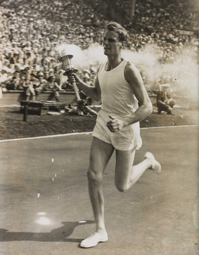 John Mark Olympic Torch Bearer, London, 1948. by National Media Museum on Flickr.
