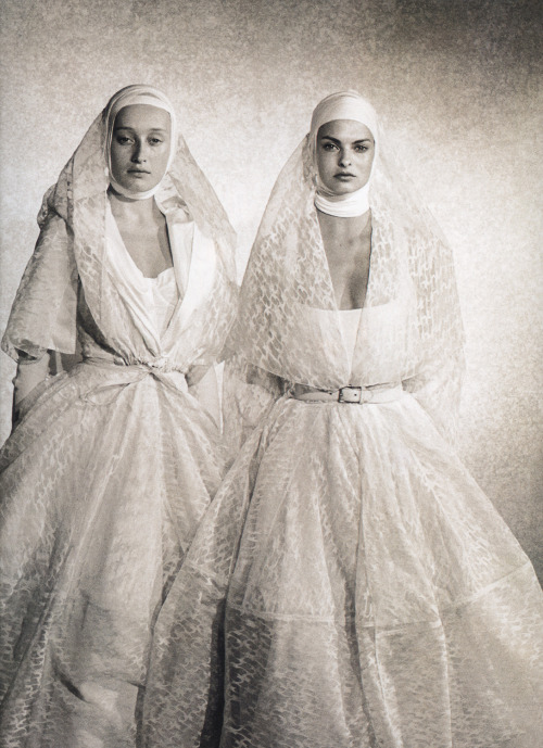 from Alaïa  Linda Evangelista and Marie-Sophie Wilson-Carrphoto by Peter Lindbergh, 1988