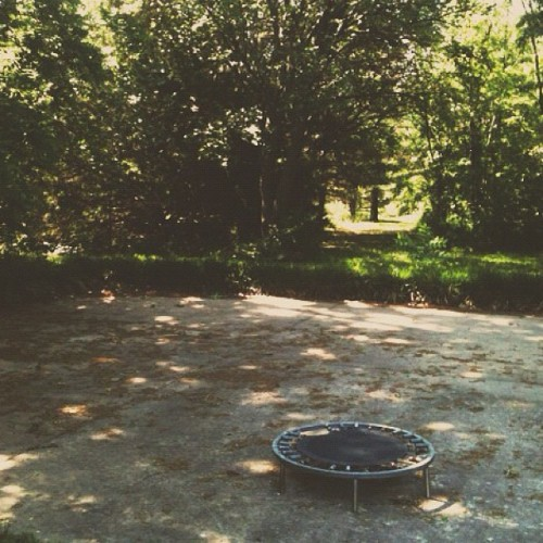 lonely little trampoline.