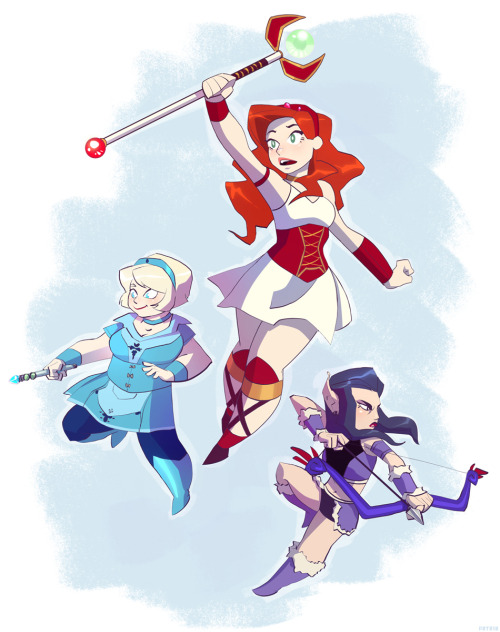 pr1ps:  The Guild' girls.   THIS IS THE CUTEST THING I HAVE EVER SEEN AND WIL WHEATON'S PUPPIES ARE PRETTY CUTE