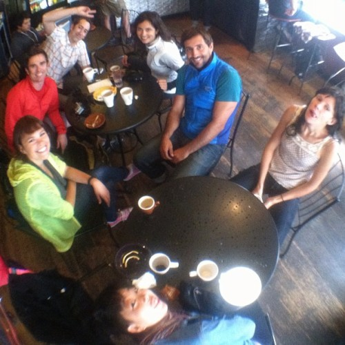 #advertising #pedalers with @biketobrew ^___^ #fisheye #nofilter #bike kReW #bicycle #love  (Taken with Instagram at Velo Rouge Cafe)