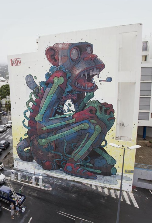 weandthecolor:  Amazing Street Art Some outstanding street paintings and graffiti artworks by the famous Spanish street artist ARYZ. Are you impressed by this artworks? Then check out more street art by ARYZ here. via: WE AND THE COLORFacebook // Twitter // Google+ // Pinterest