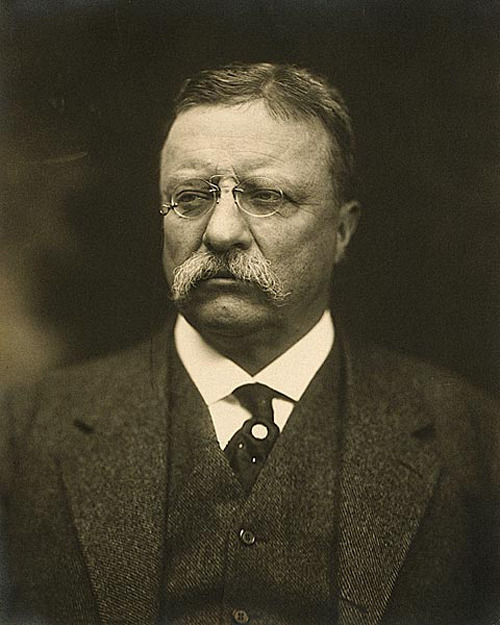Someone once tried to assassinate Theodore Roosevelt. But, he just laughed and proceeded to give a ninety-minute long speech with the bullet lodged in his lung, where it remained for the rest of his life. He tore up his leg muscles after accidentally being thrown into piranha-infested waters while exploring uncharted Brazil. Numerous times he broke his ribs from falling off horses while doing bad-ass jumps. He destroyed the sight in his left eye in a White House boxing match. He was also good with a sword. He killed a cougar in a knife fight (seriously). And, the only way death could finally get to him was in his sleep on January 6, 1919. Death had to take him sleeping. If Teddy Roosevelt had been awake, then there most assuredly would have been a fight. The United States could use another Teddy Roosevelt as our President. But, they say that there are no real men left in the world. The current leadership choices confirm this.
