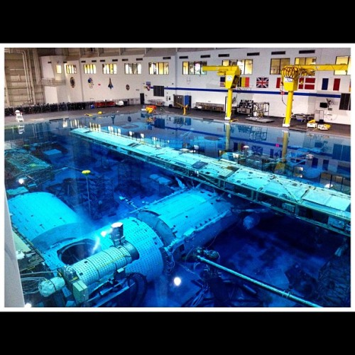 World's biggest indoor swimming pool… #nofilter (Taken with Instagram at NASA Neutral Buoyancy Laboratory (Sonny Carter Training Facility))