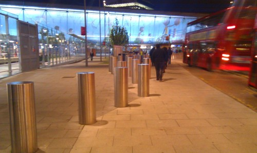 Stratford, East London - An Olympic [Censored by LOCOG] Post. Is this the Slalom Arena?