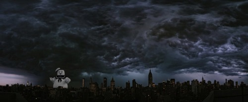 Beautiful photo of recent storm in New York City.