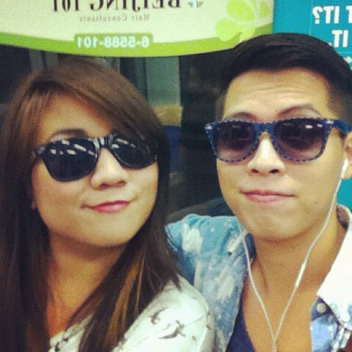 Sa train kanina going to Universal Studios LA. @jasonjamesdy :D (Taken with Instagram)