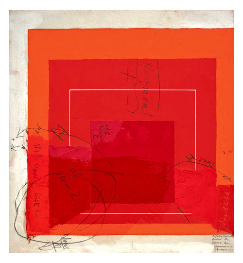 magnificentruin:  Josef AlbersColor Study for White Line Square