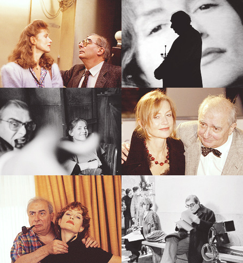 "Isabelle Huppert & Claude Chabrol Claude Chabrol loved the idea of me making a statement in a way with my acting. He wanted to really film me just the way I was, without asking me to be otherwise or different. That's the best gift you can get from a director – he says, ""Just be who you are."" That was the difference with him, and maybe why things seemed to have been different after I worked with him. And he did that with me in so many different movies – sometimes they were costume movies, sometimes they were thrillers or comedies. He would say, ""Just take it and do what you want."" - Isabelle Huppert"