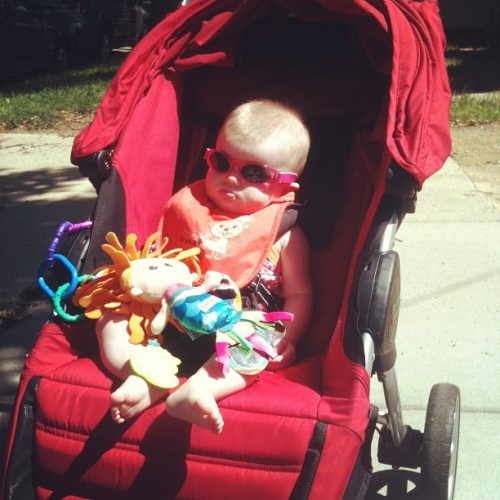 Ready to roll. #baby #iphoneonly #shades (Taken with Instagram)