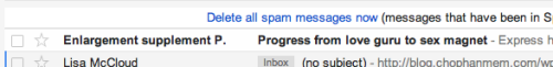 Finally, Spam that acknowledges I've already got irons in the fire. Thanks, Spam!