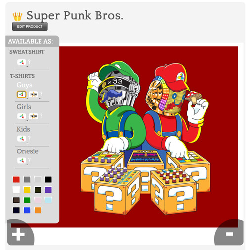 My Super Punk Bros. shirt design is MySoti's Most Wanted of the Week: mysoti.com