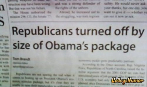 Obama's Package Too Big For Republicans Once you go Barack you never go back.