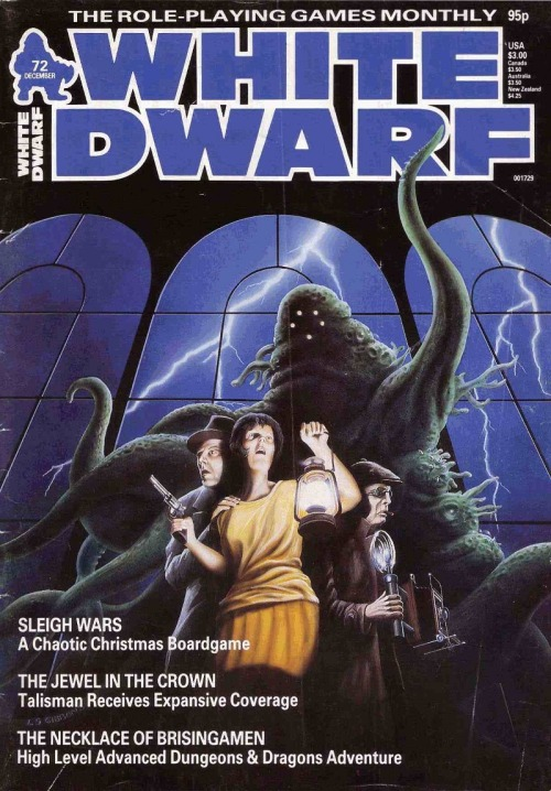 White Dwarf 72, December 1985. Lee Gibbons, 1985.