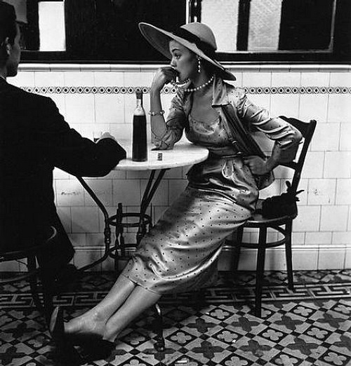 steroge:  Cafe in Lima by Irving Penn, Vogue Feb 15, 1949