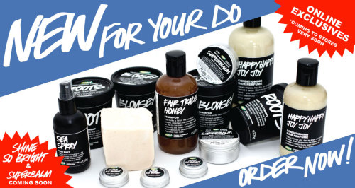 HAVE YOU GUYS SEEN THE NEW LUSH HAIRCARE THAT HIT THE UK WEBSITE TODAY? I'M PEEING MY PANTS!