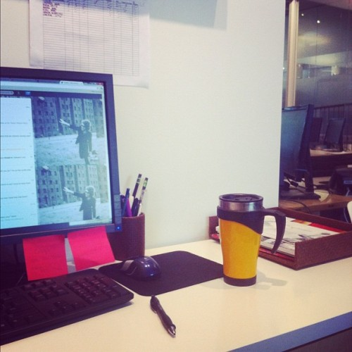 No longer unemployed. Here is my new workspace. (Taken with Instagram)